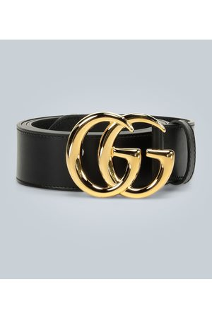 Gucci Ceinture en cuir GG Marmont