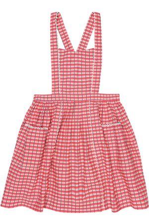 Caramel Fille Robes imprimées - Robe Donnington en coton à carreaux