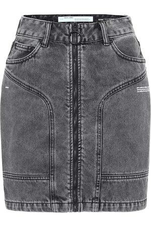 OFF-WHITE Femme Mini-jupes - Mini-jupe en jean