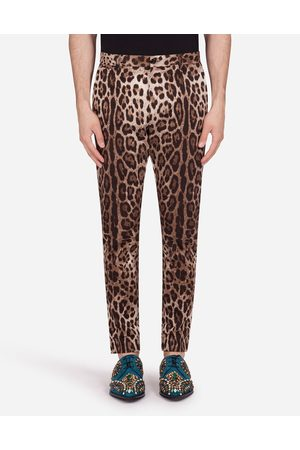 Dolce & Gabbana Collection - COTTON STRETCH PANTS WITH LEOPARD PRINT