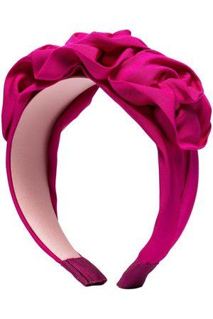 Jennifer Behr Pink Rosette flower silk headband
