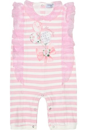 MONNALISA Bébé – Combinaison en coton à rayures