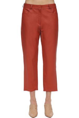 Zeynep Arcay Pantalon Court En Cuir Taille Mi-haute