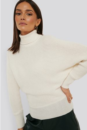 NA-KD Folded Knitted Sweater - White