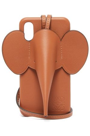 Loewe Coque pour iPhone® XS Max en cuir Elephant
