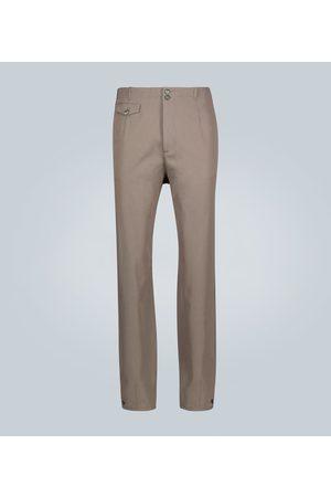 Rochas Pantalon en laine mélangée boutonné