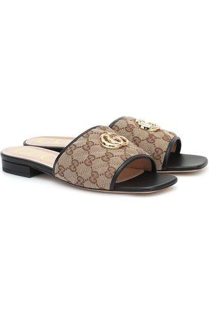 Gucci Mules GG en toile et cuir