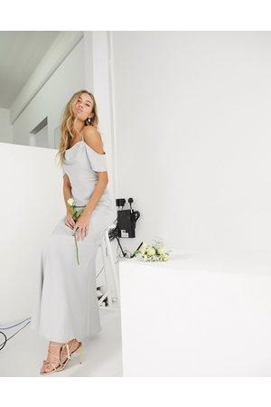 Oasis Robe longue de demoiselle d'honneur près du corps à encolure bénitier