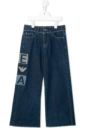 Emporio Armani Fille Baggy & Large - Jean ample à patch logo