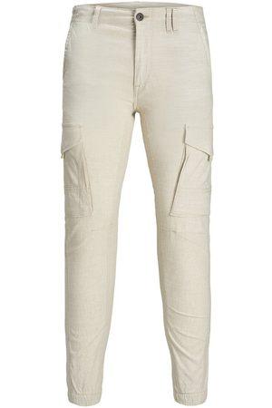 Jack & Jones Homme Cargos - Paul Flake Linen Akm 980 Pantalon Cargo Men grey