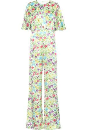 Les Rêveries Combi-pantalon imprimée en soie