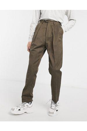 ASOS Pantalon large taille haute à rayures
