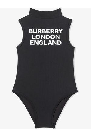 Burberry Logo-print mock-neck swimsuit