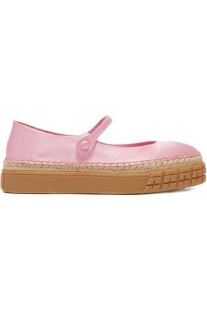Prada Femme Chaussures basses - Chaussures plates babies à plateforme en satin
