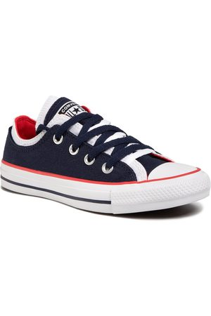 Converse Sneakers - Ctas Double Upper Ox 567039C Obsidian/White/University Red