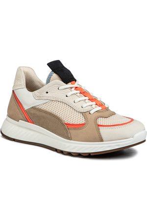 Ecco Sneakers - St.1 W 83627351891 Vanilla/Coral Neon/Vanilla/