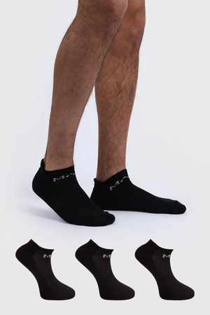 Boohoo 3 Pack MAN Dash Active Cushioned Trainer Sock Homme