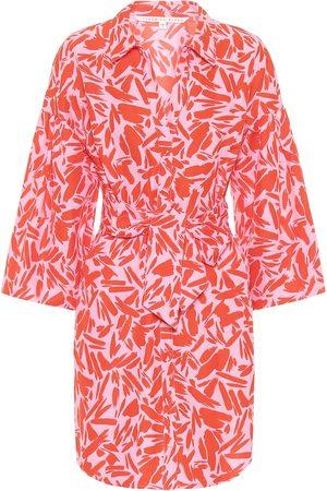 VERONICA BEARD Robe chemise Samy imprimée en coton et soie
