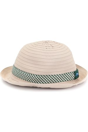 Familiar Chapeau à ruban à carreaux vichy