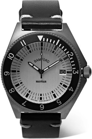 Bamford Watch Department Homme Montres - Mayfair Brushed Stainless Steel And Leather Watch