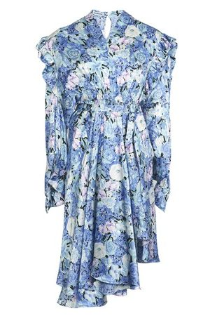 Balenciaga Robe en soie imprimé floral Gather