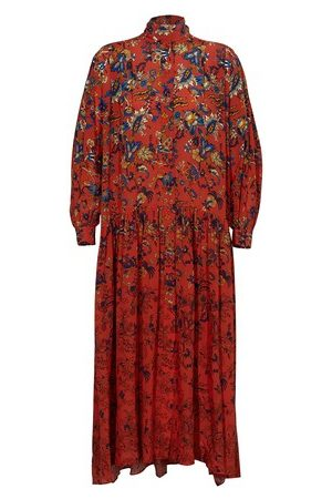 Givenchy Femme Robes imprimées - Robe longue imprimée en soie