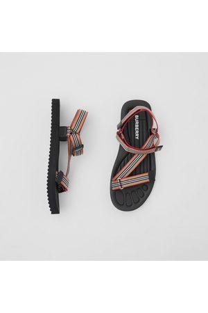 Burberry Homme Sandales - Sandales à rayures iconiques, Size: 39
