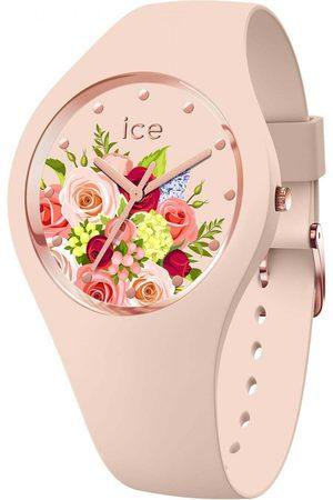 Ice-Watch Femme Montres - ICE flower - Pink bouquet - Medium - 3H