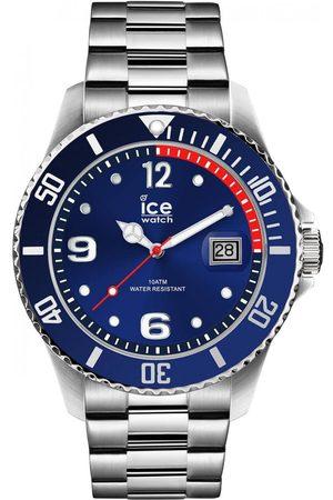 Ice-Watch Homme Montres - ICE steel - Blue silver - Medium - 3H