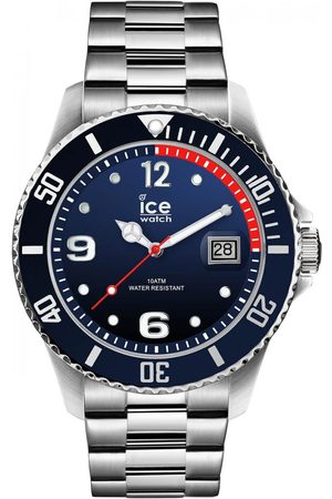 Ice-Watch Homme Montres - ICE steel - Marine silver - Large - 3H