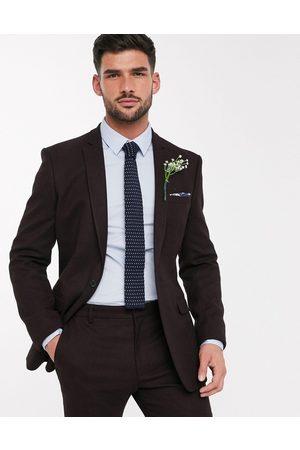 ASOS Wedding - Veste de costume ajustée imitation laine