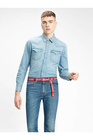 Levi's Barstow Western Standard Shirt Light Blue / Red Cast Stone