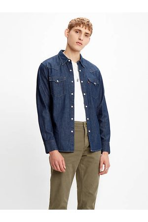 Levi's Barstow Western Standard Shirt / Red Cast Rinse Marbled