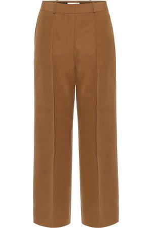 Victoria Victoria Beckham Pantalon ample en coton mélangé