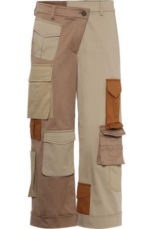 MONSE Pantalon ample en coton à taille haute