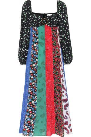 RIXO London Robe longue Ivy imprimée en soie