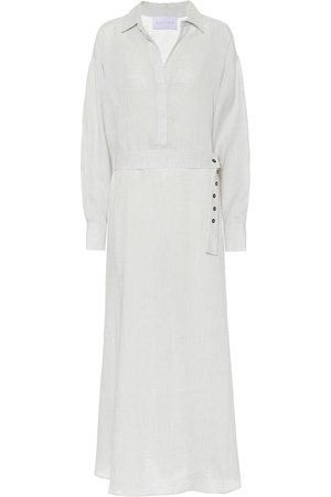 ASCENO Robe chemise longue Porto en lin