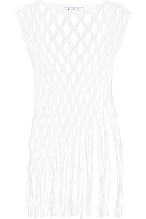OFF-WHITE Top en coton et laine mélangés