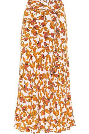 Diane von Furstenberg Jupe longue Lois imprimée en crêpe
