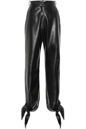 Matériel Tbilisi Pantalon à taille haute en cuir synthétique