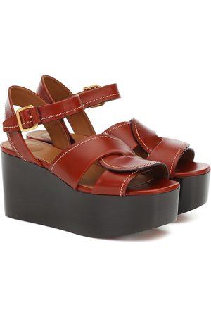 Chloé Sandales à plateforme en cuir