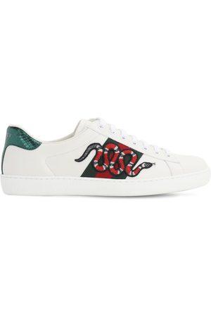 """Gucci Sneakers En Cuir """"snake New Ace"""""""