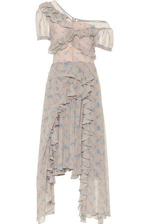 THORNTON BREGAZZI Robe imprimée en crêpe asymétrique