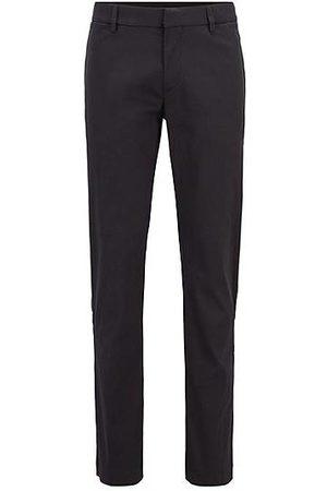 HUGO BOSS Homme Pantalons classiques - Pantalon Slim Fit en coton mélangé à poches passepoilées