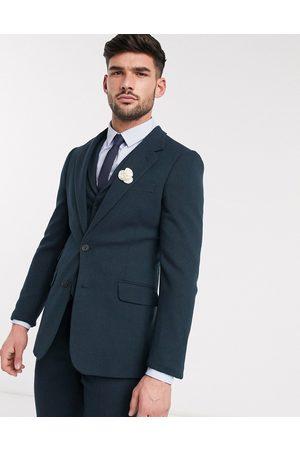 ASOS Wedding - Veste de costume ultra ajustée en laine et sergé mélangés