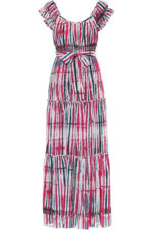 Diane von Furstenberg Robe longue Lexie imprimée en coton et soie