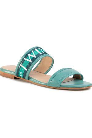 Twin-Set Femme Mules & Sabots - Mules / sandales de bain - Ciabattina 201TCT04J Bic.Green Jade 05061