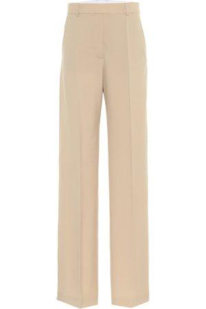 Stella McCartney Pantalon ample Abby en laine à taille haute