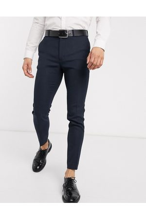 ASOS Wedding - Pantalon de costume super ajusté imitation laine