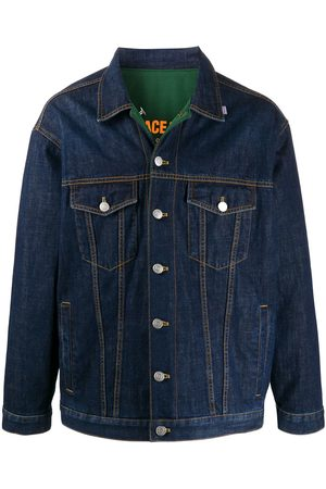 Martine Rose Reversible buttoned denim jacket